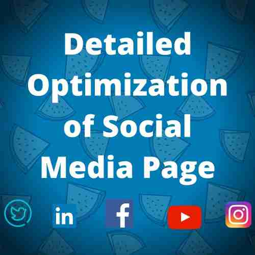 Detailed Optimization of Social Media Page