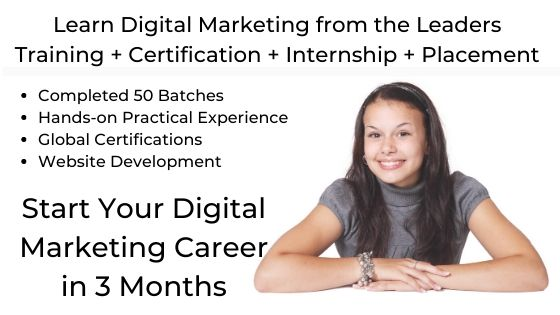Start Your Digital Marketing Career in 3 Months