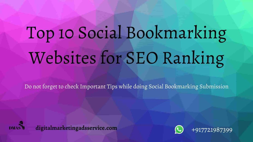 Top 10 Bookmarking Websites for SEO Ranking