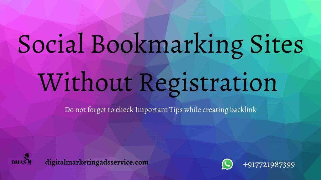 Social Bookmarking Sites List Without Registration 2020